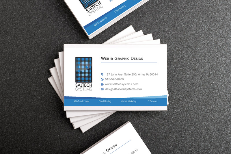 saltech systems graphic design business card mockup