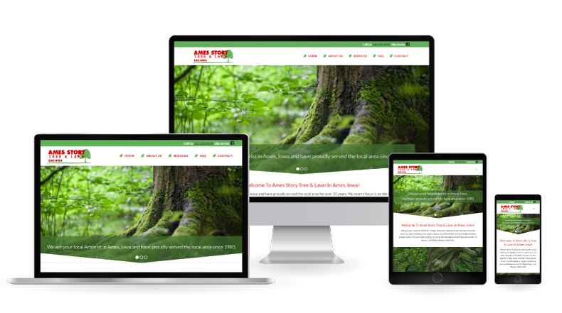 ames story tree website displayed on multiple devices