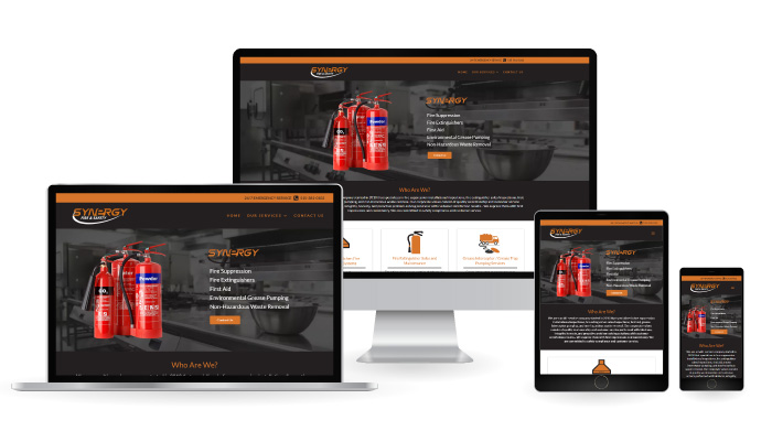 Synergy Fire & Safety Responsive Website Design
