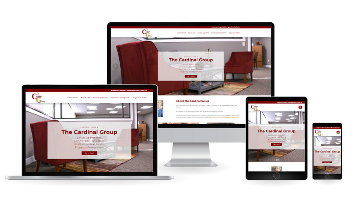 Cardinal Group Ames Responsive Web Design mockup