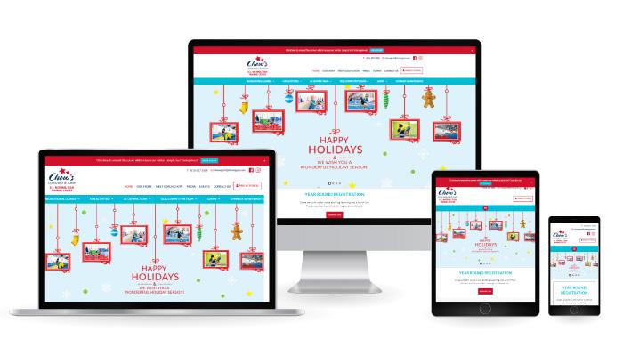 Chows Gymnastics Responsive Web Design mockup