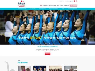 Chows Gymnastics Academy Website Screenshot