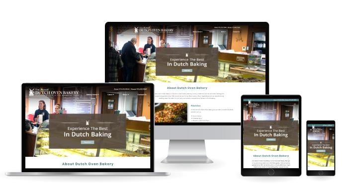 dutch oven bakery web design