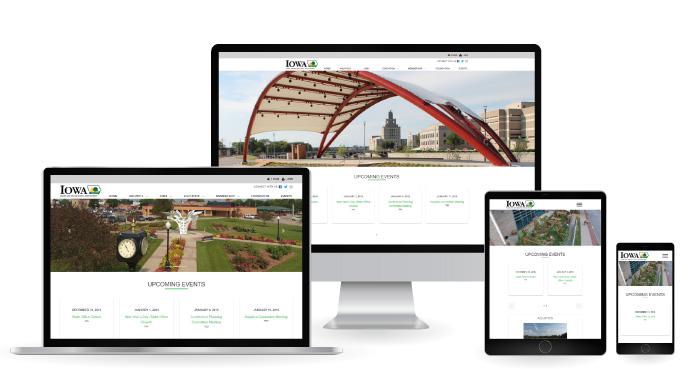 Iowa Parks & Recreation Responsive Web Design mockup