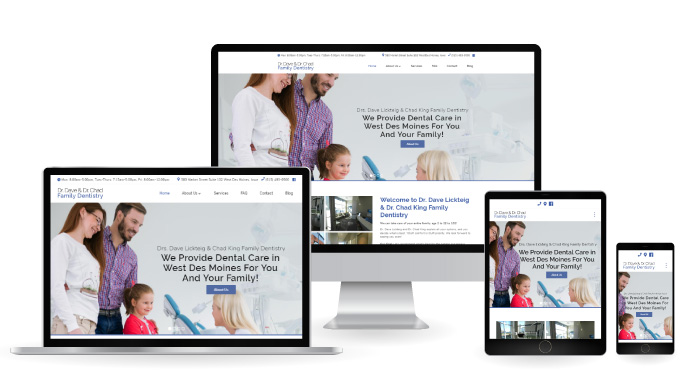 Responsive Web Design for Dr Dave & Dr Chads Family Dentistry in West Des Moines