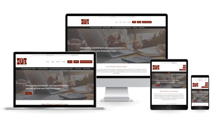 Whelan Financial Partners Responsive Web Design mockup