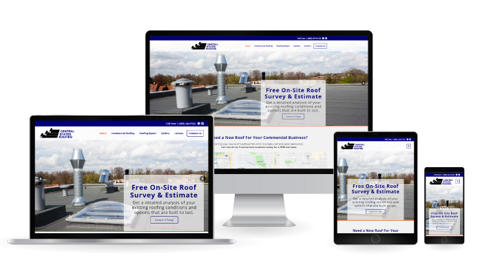 Central States Roofing Responsive Web Design