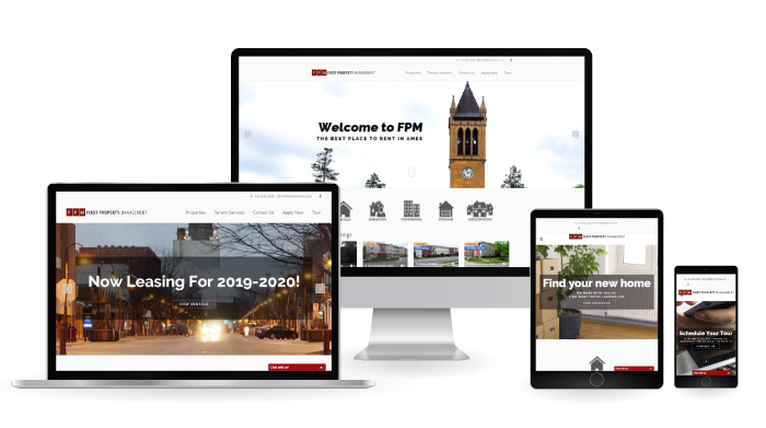 First Property Management Responsive Web Design Mockup