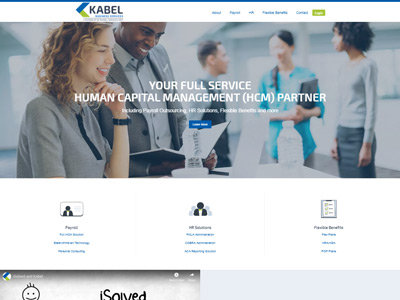 Kabel Business Services Website Screenshot