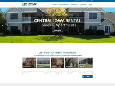 Venture Property Management Website Screenshot