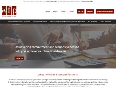 Whelan Financial Partners website screenshot