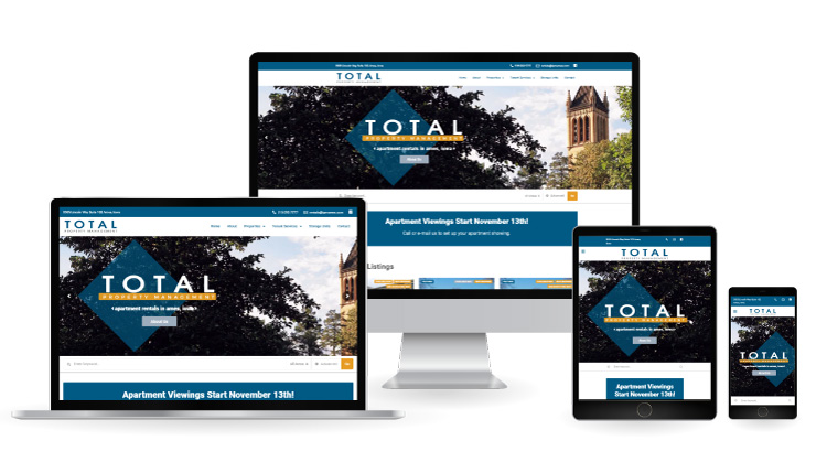 Total Property Management Responsive Web Design Mockup