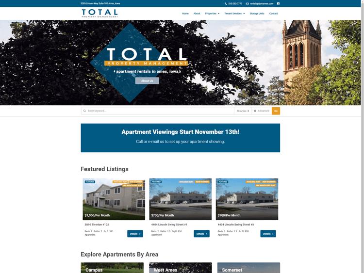 Total Property Management Website