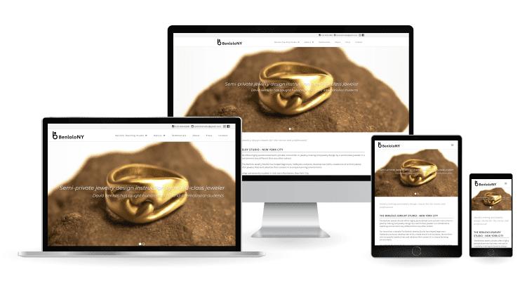Benlolo Jewelry Web Design