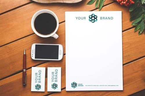 your brand - corportate identity package mockup