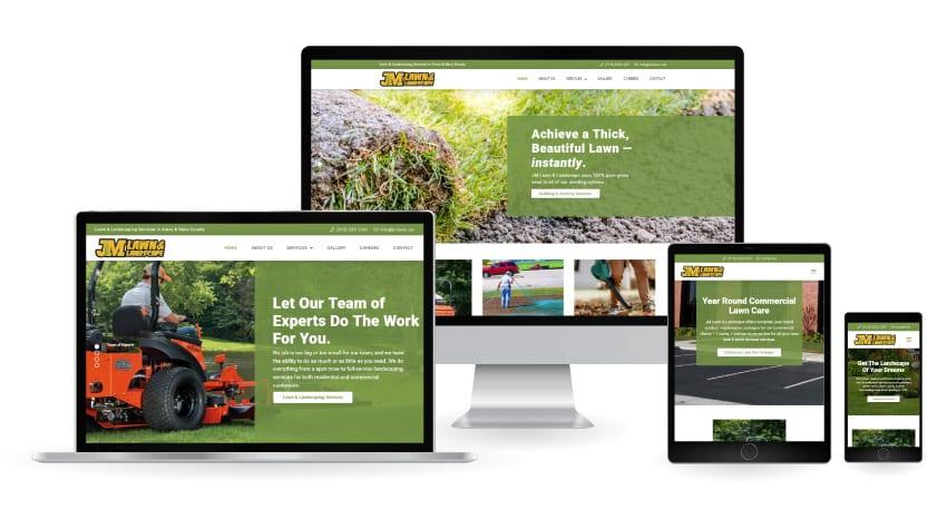 JM Lawn & Landscaping Website Mockup