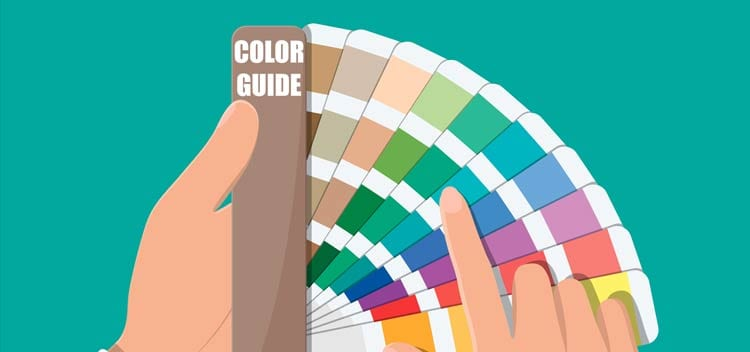 Choosing colors from a color guide