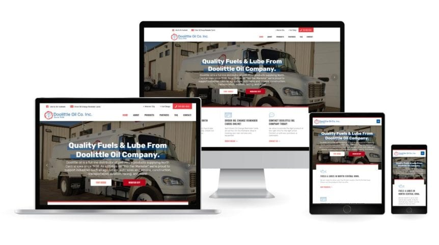 Doolittle Oil Company Website Design