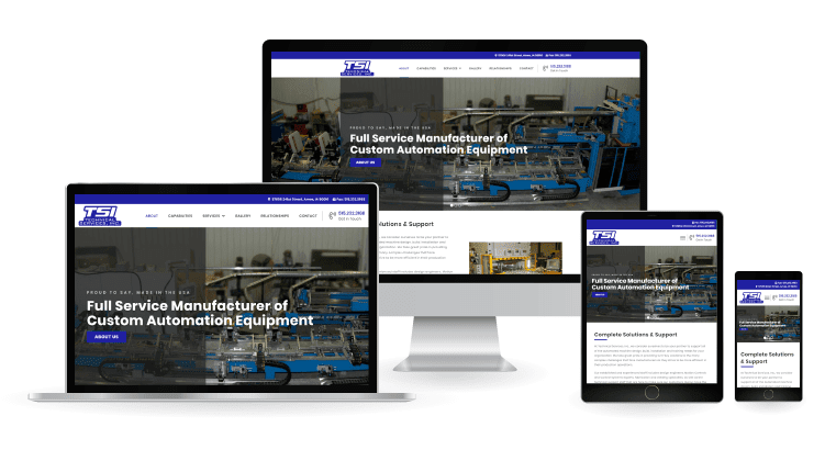 TSI AMes Responsive Website Mockup