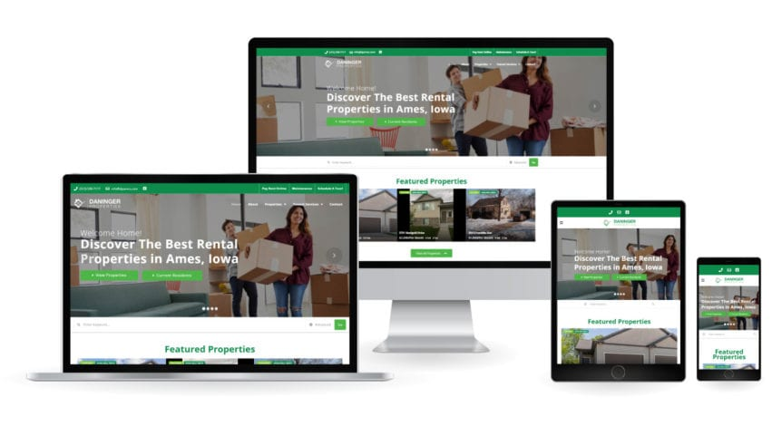 Daninger Properties - Ames Property Management Website