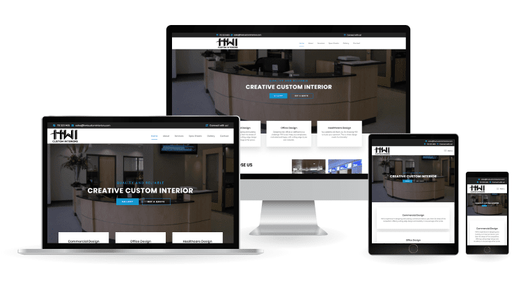 HWI Custom Interiors - Web Design Mockup