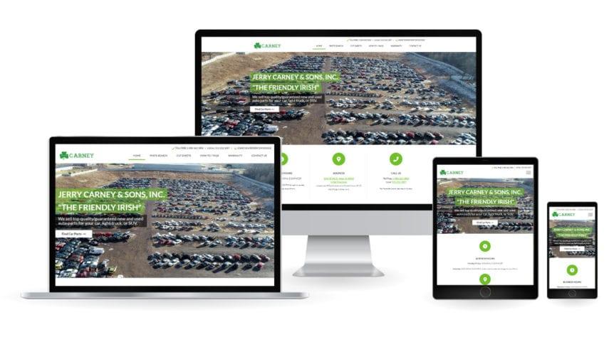 Carney Autoparts Webdesign Mockup