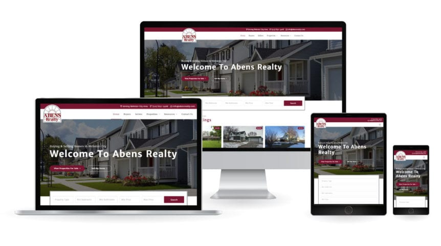 Abens Realty Website - Responsive Design Mockup