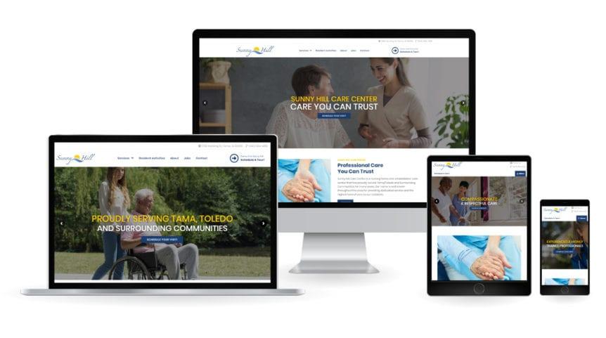 Sunny HIll Care Center Responsive Design Mockup