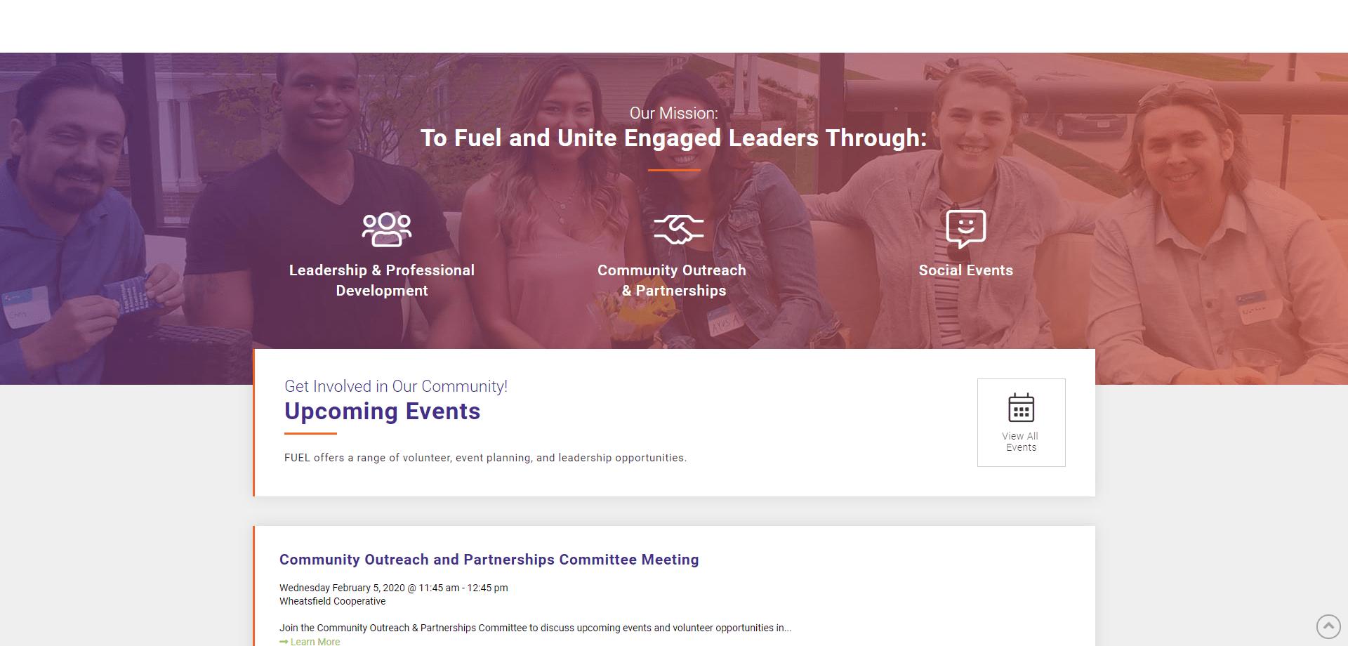 Gradient website design example