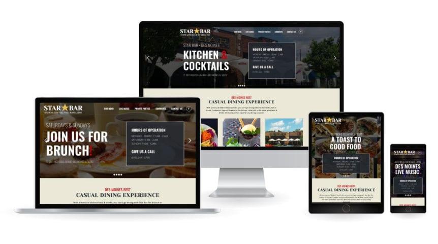 img star bar responsive web design